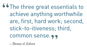 three great essential thomas edison quote