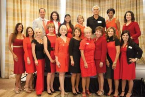 The photo represents a portion of the Naples Legacy and Circle of Red members & Red Tie Society who were in attendance for the breakfast. All are active participants in the planning and execution of the Go Red lunch to be held in the spring.