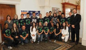 NHS CORE students at Drug Free Collier's 5th Community Awareness Luncheon
