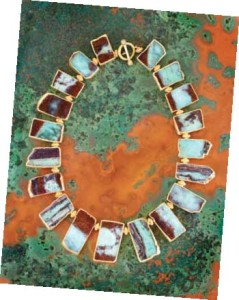 Chrysoprase necklace from the Maharani Opulence collection: Courtesy Nina Nguyen Designs