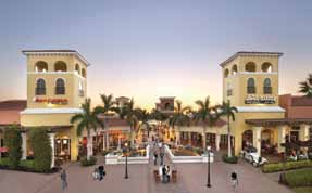 Shopping, dining and entertainment at Miromar Outlets