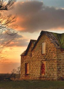 Randy Watkins - Sun Setting over Old Farmstead