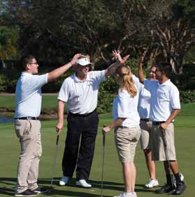 TIF students Alan Cuevas, Heather Martinez, Gerardo Lugo and Charity Gonzales with Eric Booker (pro) at 2013 Charity Classic Pro-Am